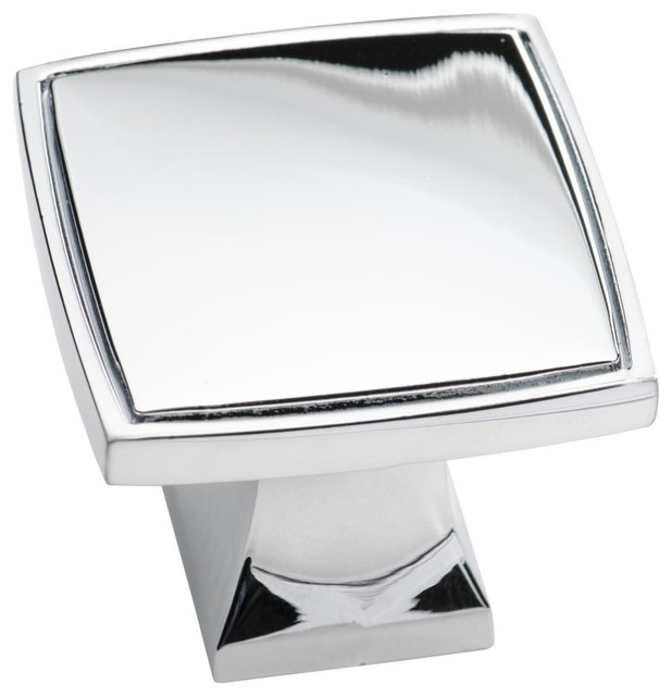 Southern Hills Polished Chrome Square Knobs - Pack of 25 contemporary- cabinet-and-