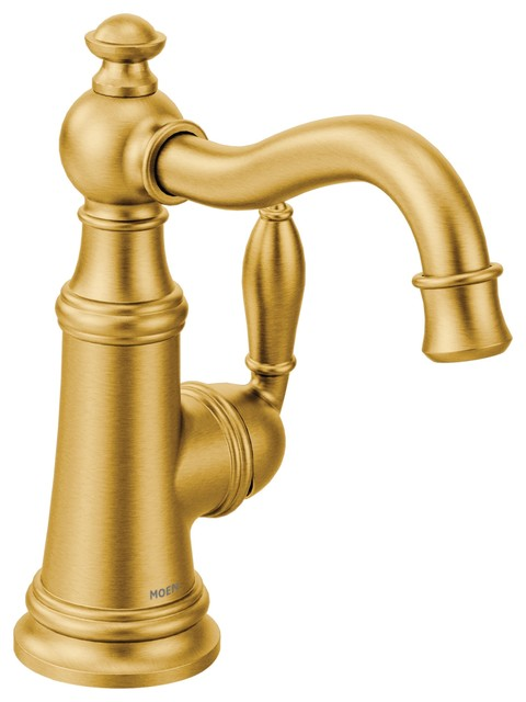 Moen Weymouth Brushed Gold One Handle Kitchen Faucet Traditional Kitchen Faucets By The Stock Market