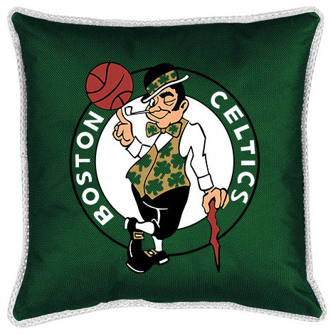Sidelines Toss Pillow Celtics.