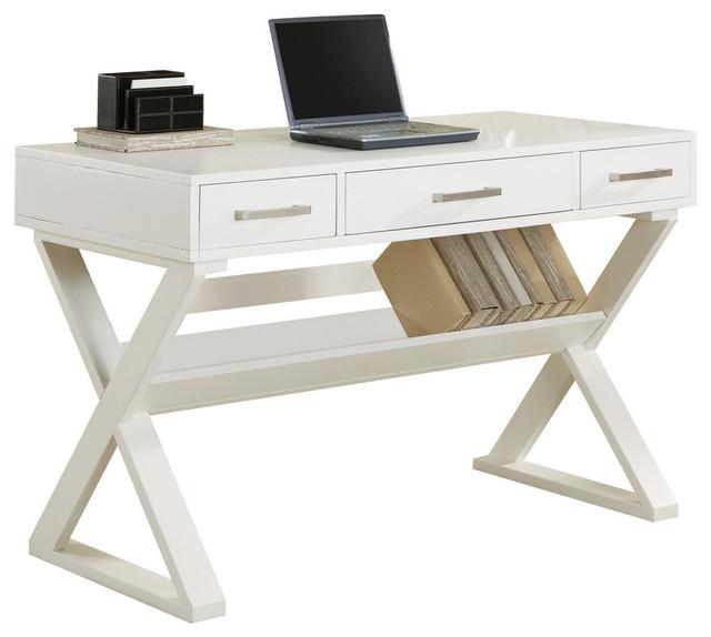 Coaster White Office Desk In White Finish 800912.
