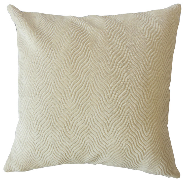Nuri Solid Down Filled Throw Pillow Sand Transitional Gorgeous Down Filled Decorative Pillows