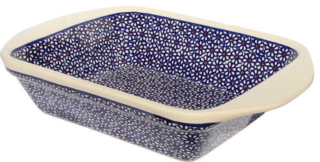 Polish Pottery Baker With Handles, Pattern Number: 120