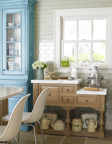 Organization Inspiration: Neat & Beautiful Kitchens | Apartment Therapy New York eclectic kitchen