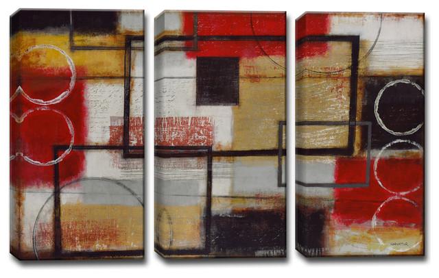 Energized By Norman Wyatt Jr 3 Piece Wrapped Canvas Art Set 24 X36