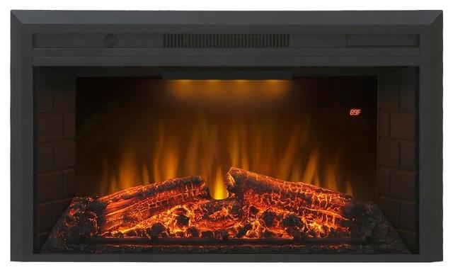 "Valuxhome Houselux 36"" 750w/1500w, Embedded Electric Fireplace Insert Heater."