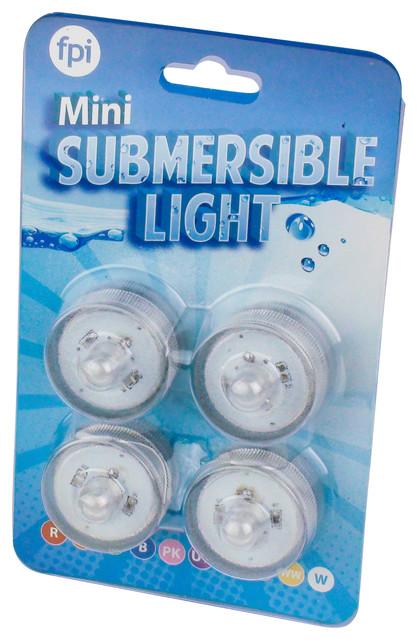 Mini Submersible, White, 4 Pack.