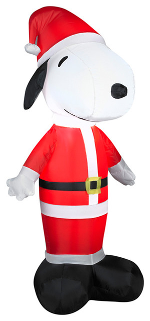 Gemmy Industries Santa Snoopy Inflatable, Multi.