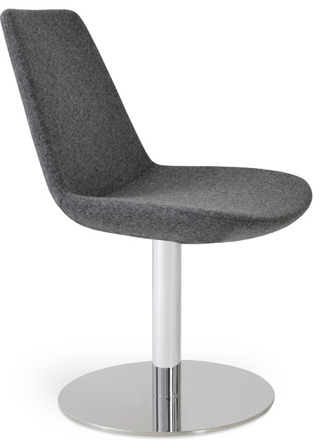 Eiffel round swivel chair contemporary dining chairs by sohomod furniture