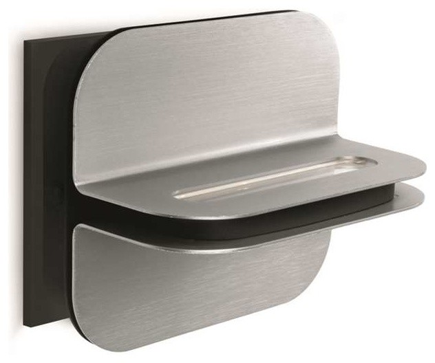 Philips Louver 2 Light Wall Lamp In Brushed Nickel And
