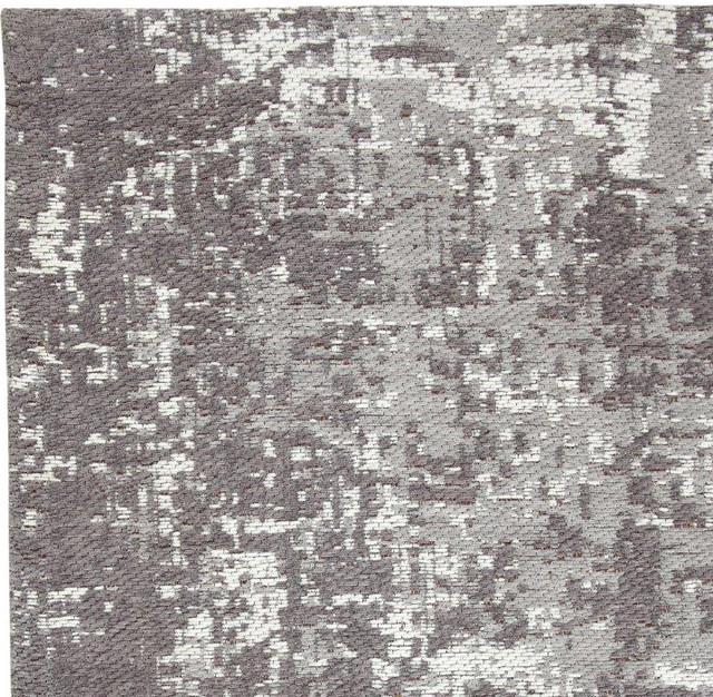 Aldey Gray Pixel Camo Cotton Rug, 8&x27;x10&x27;.