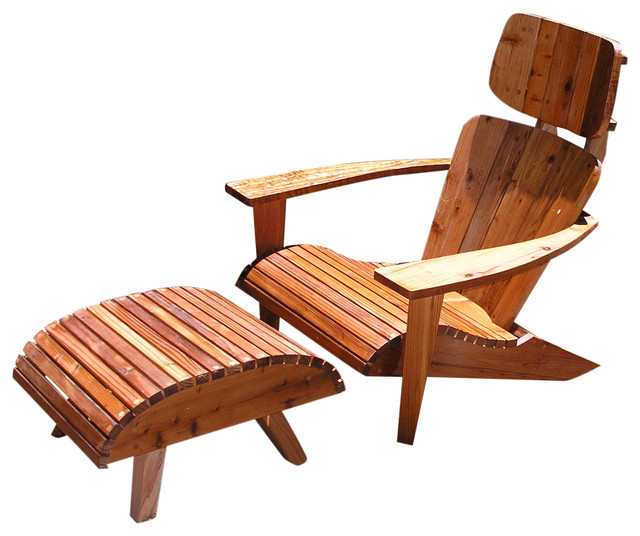Modern Adirondack Chair Set - Rustic - Adirondack Chairs - by Mid Century Wood Shop  sc 1 st  Houzz & Modern Adirondack Chair Set - Rustic - Adirondack Chairs - by Mid ...