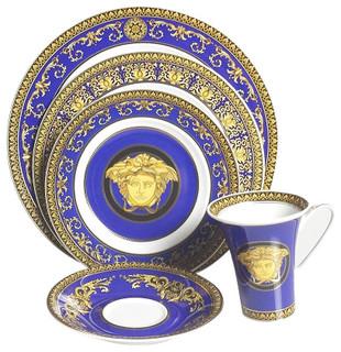 sc 1 st  Houzz & Versace Medusa Blue - Victorian - Dinnerware Sets - by Upscale Gallery