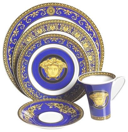 Versace Medusa Blue, 5 Piece Place Setting High Cup
