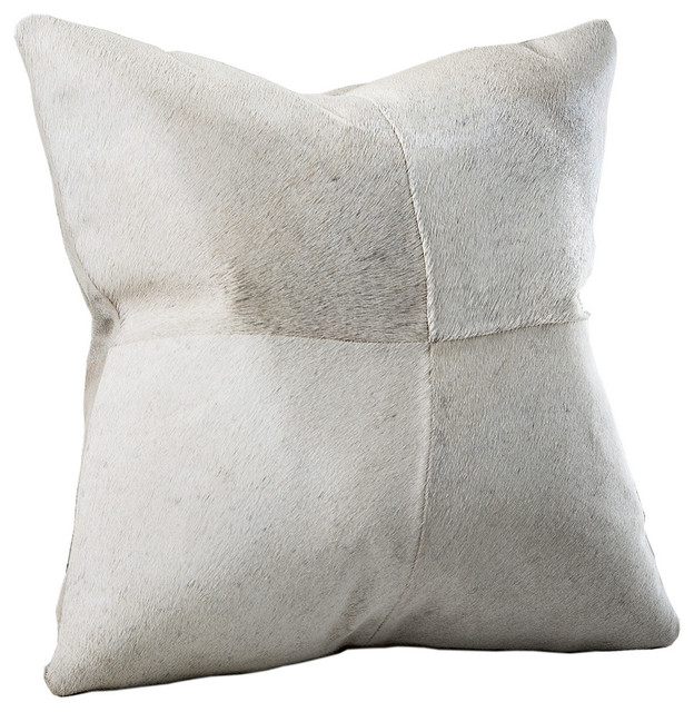 Del Rey Brazilian CowHide Feather & Down Pillow - Rustic - Decorative Pillows - by Chauran