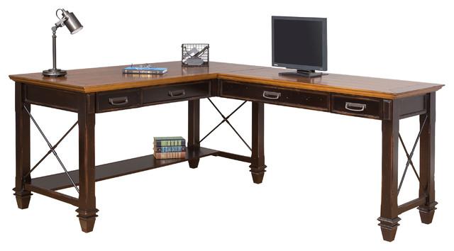 Martin Furniture Hartford Open L Shaped Desk Desks And