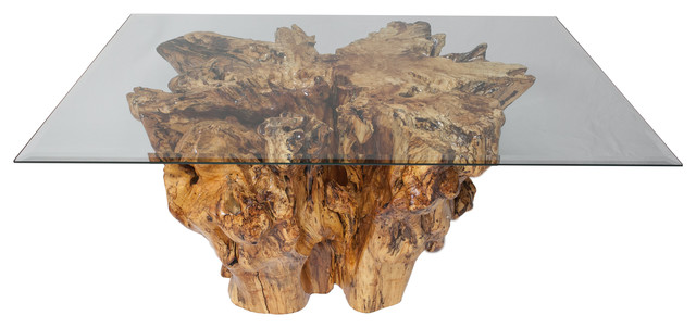 Spalted Sycamore Tree Stump Coffee Table rustic-coffee-tables