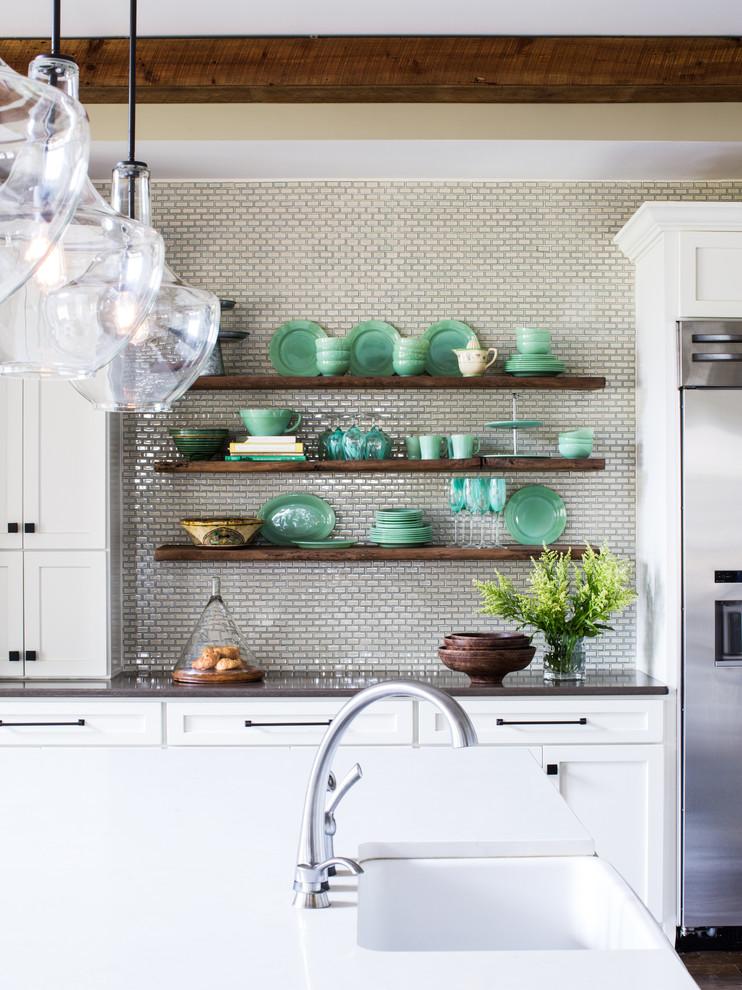 厨房米色背景墙混搭风格效果图