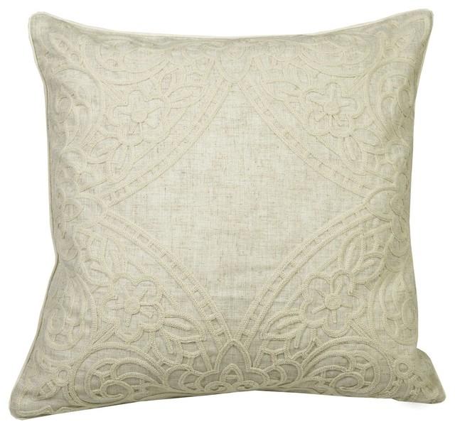Cream Lace Throw Pillows : Westex International - Lace Cream Cushion 20