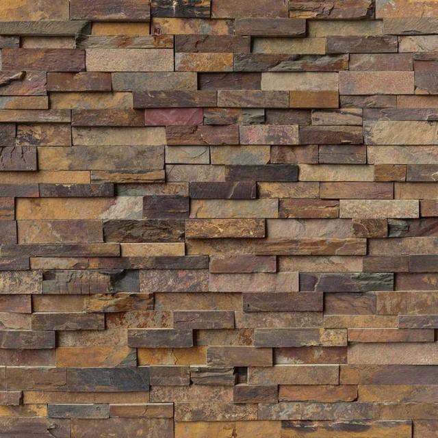 Decorative Califlorencenia Gold Panel 6X24, Gauged, Slate, Ledgers