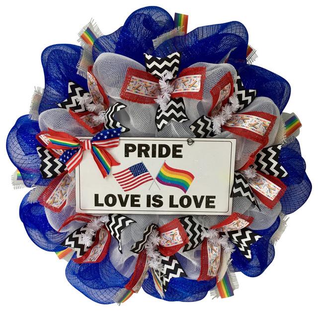 Pride Wreath Colorful Handmade Deco Mesh