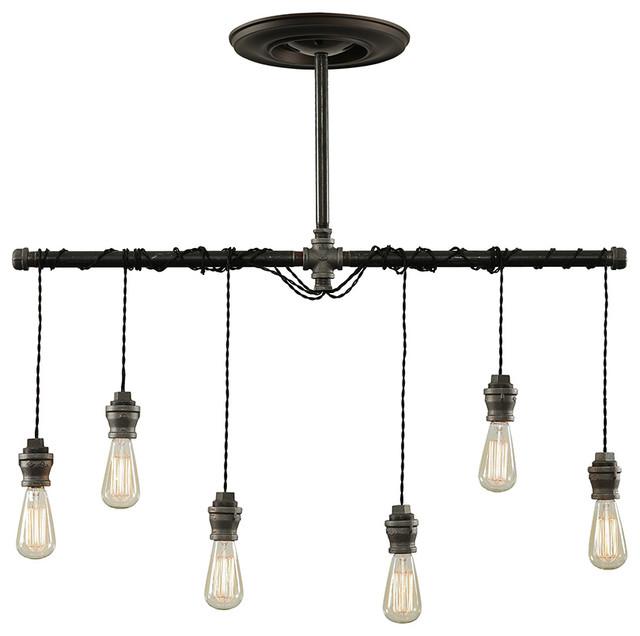 westninthvintage dixon 6-light pendant lamp
