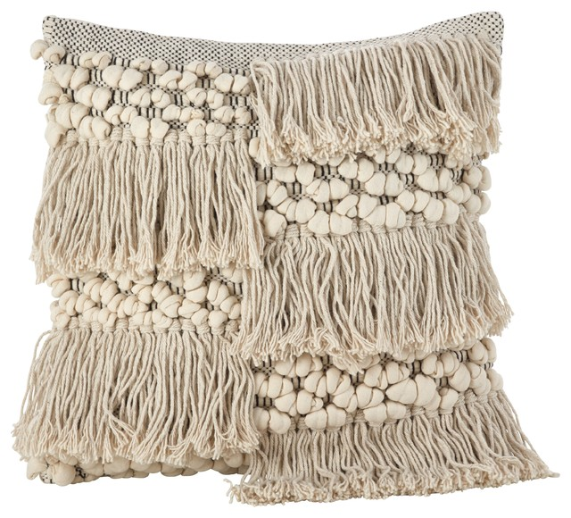 Moroccan Wedding Blanket Style Design Down Filled Throw Pillow, Style 2.