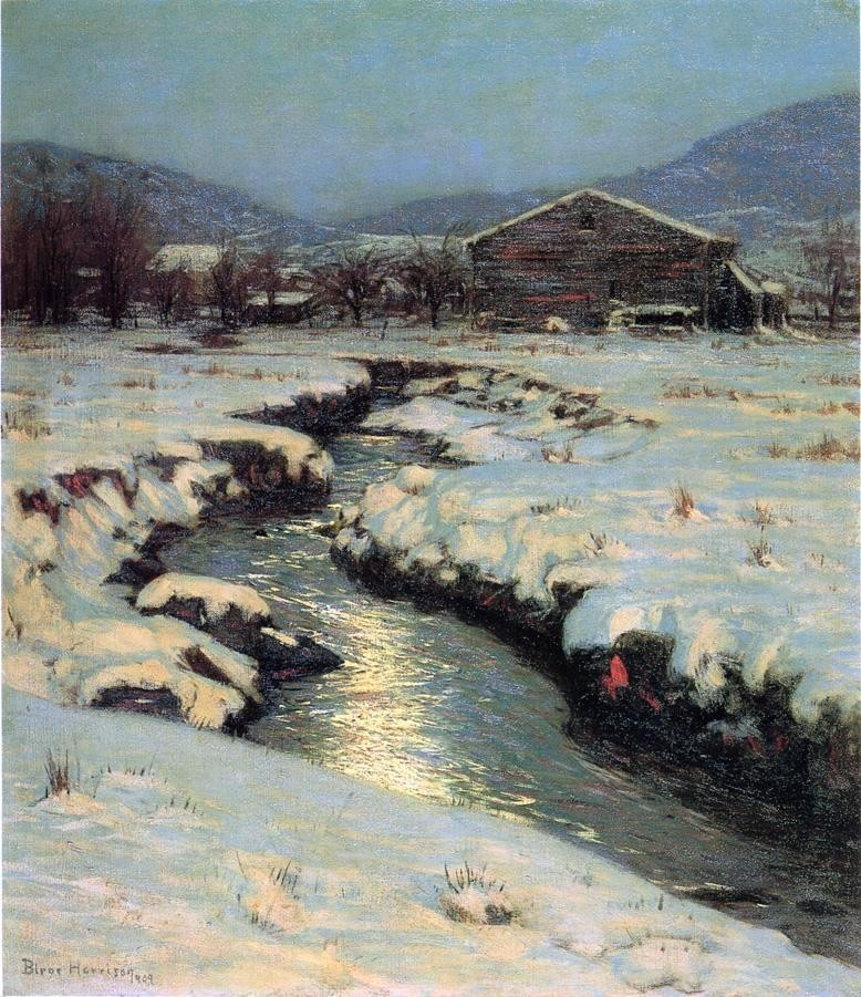 Lowell Birge Harrison Woodstock Meadows In Winter Gallery Wrap Canvas Traditional Prints And Posters By Art Megamart