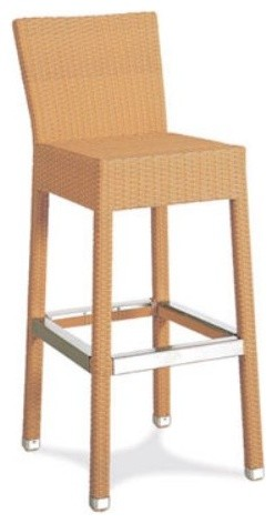 Gar Products 29 5 Inch Asbury Wicker Bar Stool With Back
