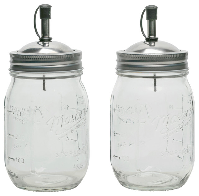 2pk 16oz Mason Glass Oil Dispenser Set.