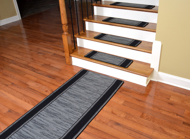 how to lay carpet on stair treads only bullnose wraparound washable non skid boxer grey plus wool