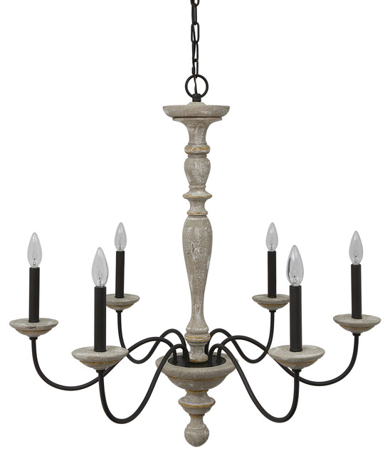 Jane french country rustic 6 light distressed wood chandelier no jane french country rustic 6 light distressed wood chandelier no crystal aloadofball Gallery