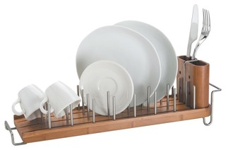Better Housewares - Drain Forest Bamboo Dish Drainer - View in Your Room! |  Houzz