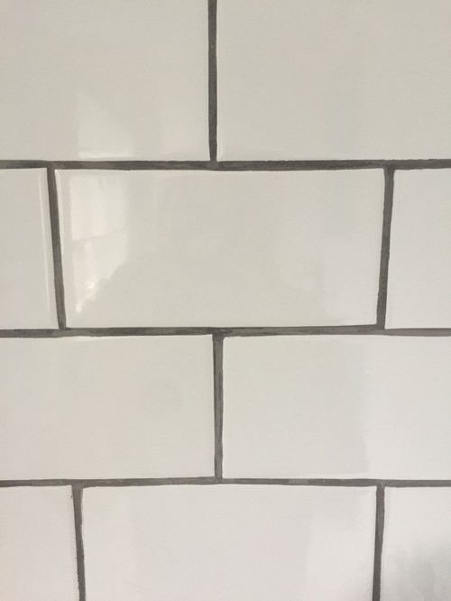 Grout Has Been Done And This Is What It Looks Like I M So Upset Don T Want To Pay The Final Payment Of Bathroom Til My Tile Fixed