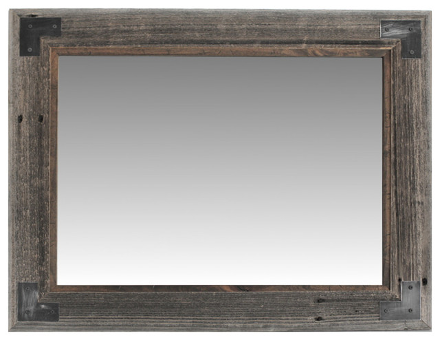 Rustic Bathroom Mirror Modern Farmhouse Mirror Ranch Hand Mirror Rustic Bathroom Mirrors By My Barnwood Frames