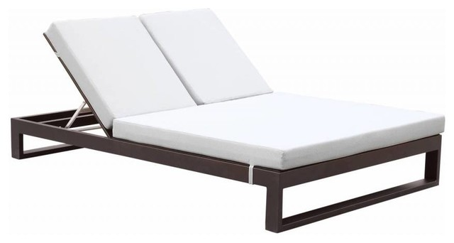 Delightful Amber Modern Outdoor Double Chaise Lounge Contemporary Outdoor Chaise  Lounges