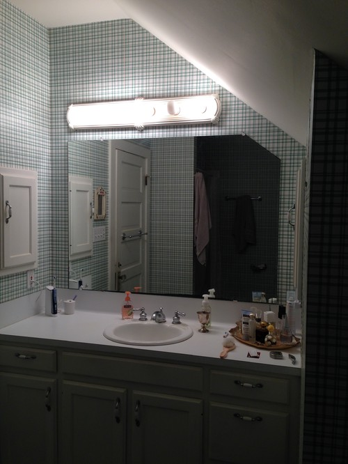 How To Paint Over Old Bathroom Cabinets old bathroom with a sloped ceiling