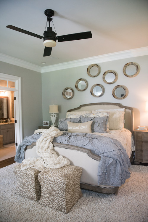Bedroom Paint Color idea: Sherwin Williams Silverplate! A beautiful, neutral gray wall color for your home!