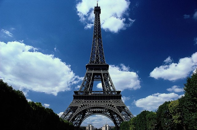 The Eiffel Tower Paris Wallpaper Wall Mural, Self Adhesive Contemporary Wall  Decals