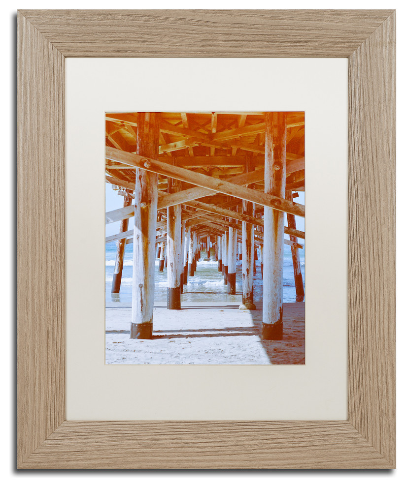 Ariane Moshayedi Under Pier 2 Matted Framed Art Beach Style Prints And Posters By Trademark Global
