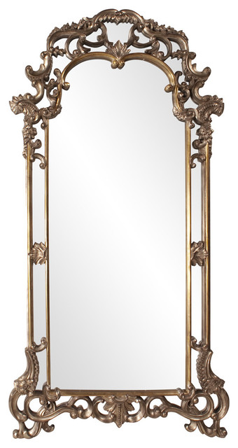 "Imperial Mirror 44""x85""x2"", Elegant Mottled Bronze-Pictured."