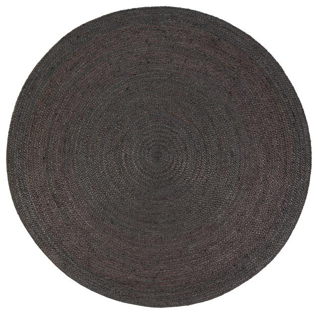 Kalkar Jute Area Rug, Gray, 6&x27; Round.