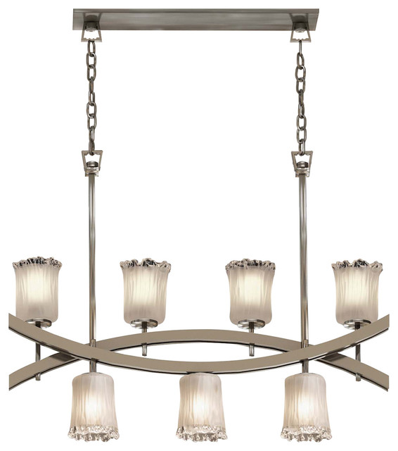 Veneto Luce Archway Up And Downlight Chandelier Cylinder With Rippled Rim