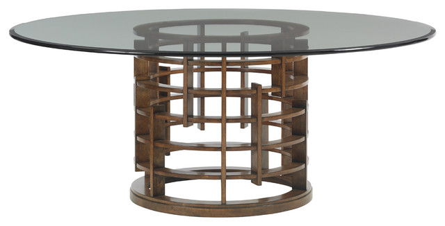 lexington drake dining table black island fusion meridian round contemporary tables ice