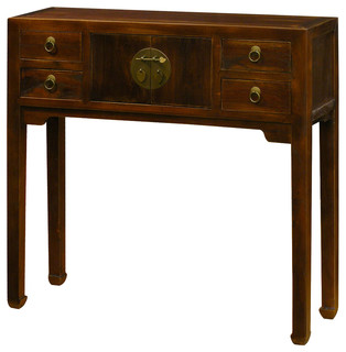 Nice China Furniture And Arts   Elmwood Console Table, Black Distressed   Console  Tables