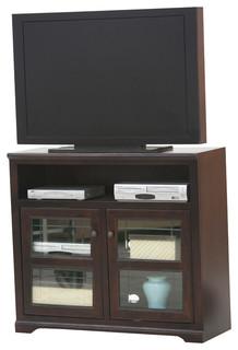 "Eagle Furniture Savannah Plain Glass Door 45"" Wide TV Console, Hazy Sunrise"