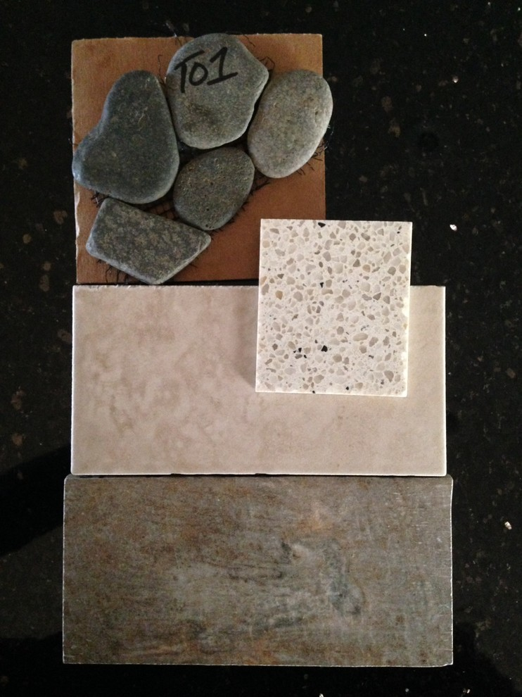 Shower wall & accent tile, flooring, countertops