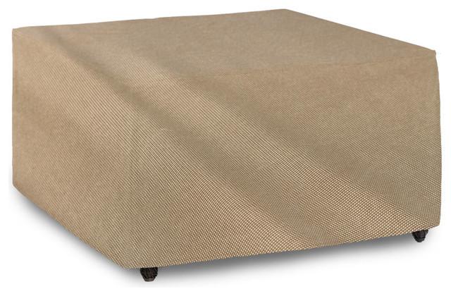 """EmpirePatio Signature Tan Tweed Square Patio Table Cover 28""""x34""""x3"""