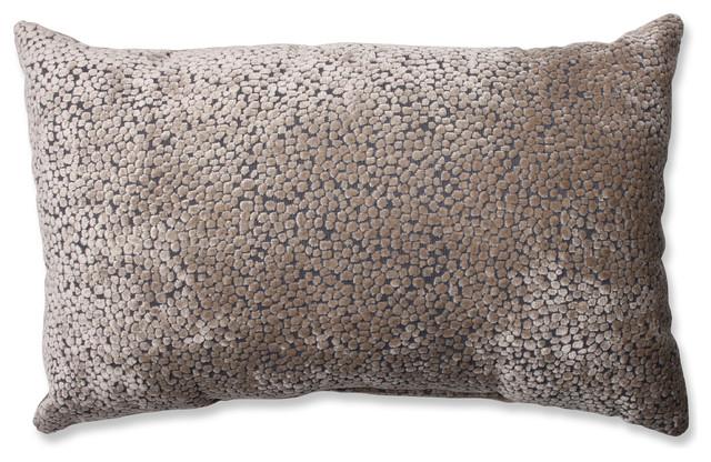Decorative Rectangular Throw Pillows : Tuscany Dots Flax Rectangular Throw Pillow - Contemporary - Decorative Pillows - by Pillow ...