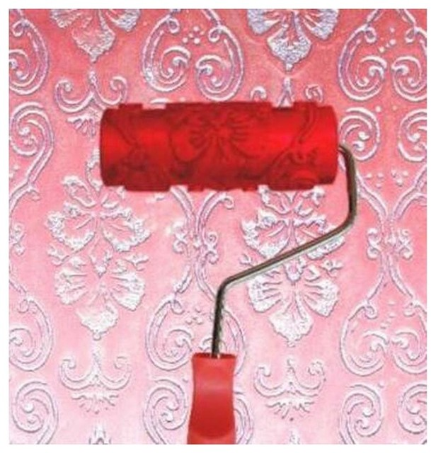Embossed Paint Roller Wall Painting Runner Wall Decor Diy Tool, Pattern 19.