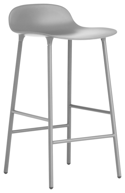 Normann Copenhagen Form Barstool, Lacquered Steel, Grey